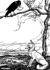 Fox and Crow by Arthur Rackham