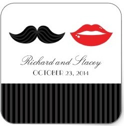 mustache lips wedding favors