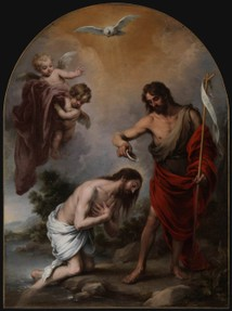Bartolomé Esteban Murillo, The Baptism of Christ, 1667-68, Oil on canvas, 283 x 210 cm, Chapel of San Antonio, Catedral de Sevilla