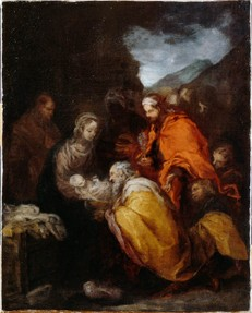 Bartolomé Esteban Murillo, The Adoration of the Magi, 1660-65, Oil on canvas, 34.6 x 27.4 cm, By Permission of the Trustees of Dulwich Picture Gallery, London
