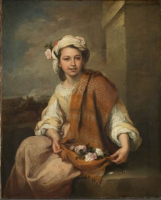 'Spring' (?) as a Flower Girl, 1665-70, oil on canvas, 120.7 x 98.3 cm, By permission of The Trustees of Dulwich Picture Gallery, London