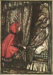 Red Riding Hood illustrated by Arthur Rackham