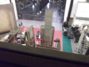 Looking down on the stage ROH