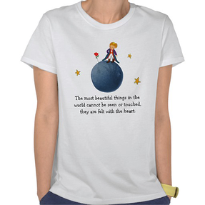 The Little Prince with Rose on the Planet B612 Tees