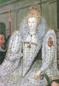 Elizabeth I in regal finery