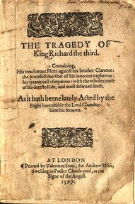 Frontispiece of Richard III