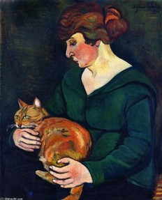 Woman with Cat - Valadon