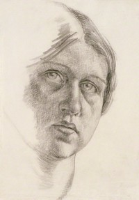 Self-portrait sketch by Dora Carrington