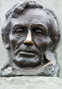 Shiny nose on Lincoln statue at Lincoln's tomb.