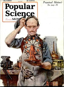Norman Rockwell Perpetual Motion magazine cover.