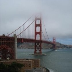 San Francisco's Golden Gate Bridge in Fog