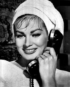 Anita Eckberg on the phone