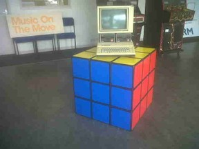 The Rubiks Cube display case