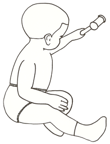 outline drawing of a baby