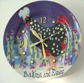 Baking and Eggs wall clock