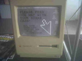 Broken-Mac-as-charity-donation-box