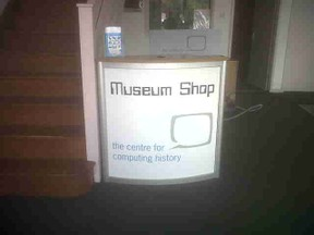 Ths Museum Shop sign