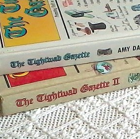 Two volumes of the Tightwad Gazette