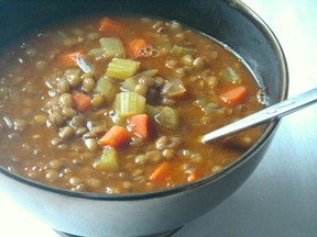 Home cooked lentil soup
