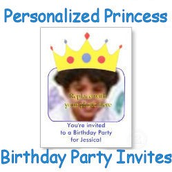 Personalized Princess Birthday Party Invites image