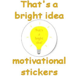 That's a bright idea motivation stickers, image
