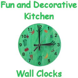 Fun and decorative kitchen wall clocks image