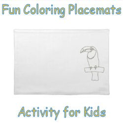 Fun Coloring Placemats Activity for Kids image