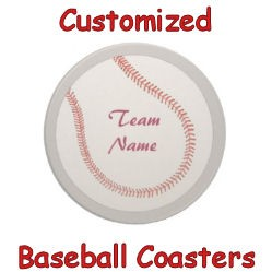 Customized Baseball Coasters image