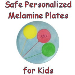 Safe personalized melamine plates for kids, image