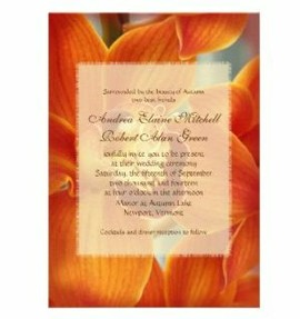 orange orchid fall invitations