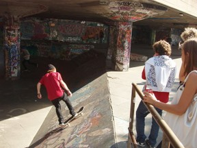 Skateboarding on South Bank
