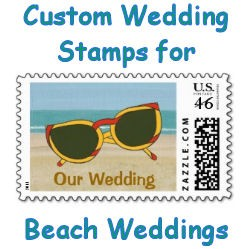 Custom Wedding Stamps for Beach Weddings image