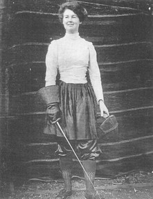 Image: Flora Sandes as a Young Woman
