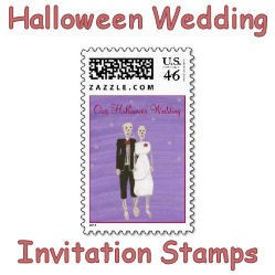 Halloween Wedding Invitation Stamps image