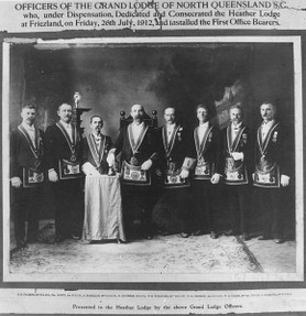 a group of Freemasons in Australia