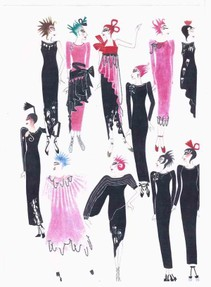 Conceptual Chic Drawings by Zandra Rhodes