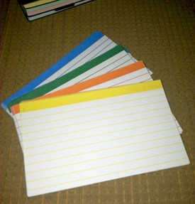 Color coded cards