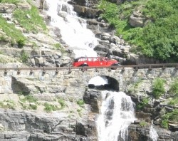Glacier National Park Red Cars