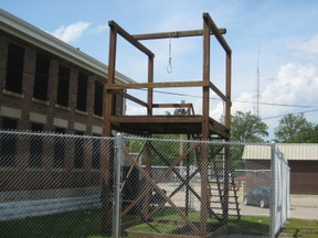 replica of gallows