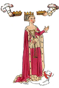 Image: Anne Neville on the Rous Roll