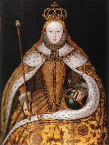 The coronation of Elizabeth I