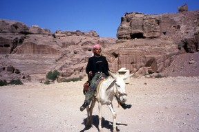 Boy on Donkey in Petra