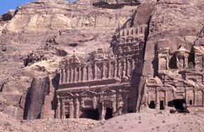 The Pink City of Petra near the Royal Tombs