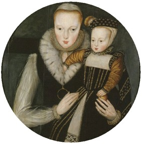 Katherine Grey with her first son, Edward Seymour