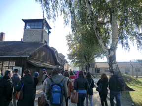 Image: Entering Auschwitz I