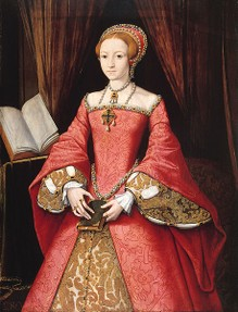The young and beautiful Lady Elizabeth Tudor