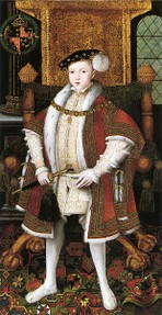 Edward VI painted by Holbein