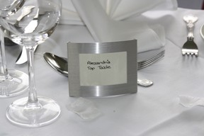 My wedding favour that doubled as name places