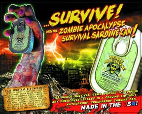 Zombie Survival Kit in a Sardine Can