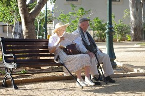 Image: Elderly couple
